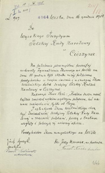 pismo-prezbiterstwa-zboru-ewangelickiego-w-wisle